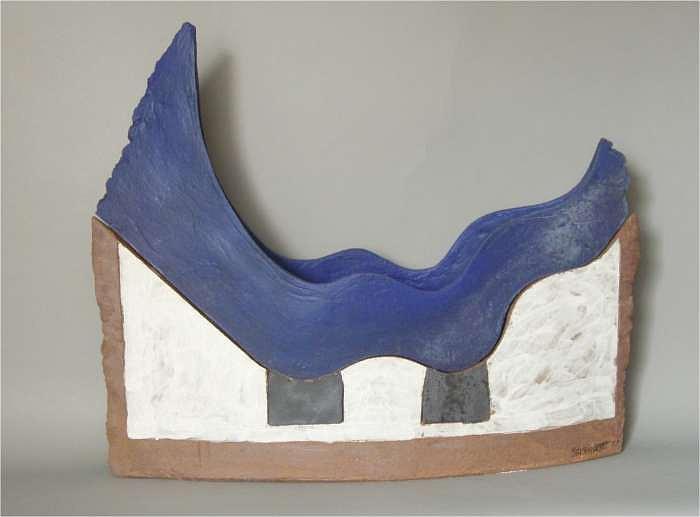 Blue Ceramic Art by Henry Gernhardt