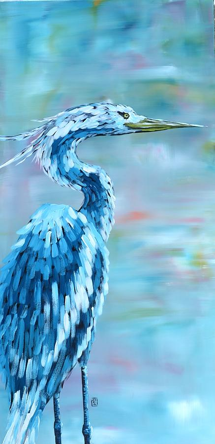 Blue Heron Painting - Blue Heron by Holly Donohoe