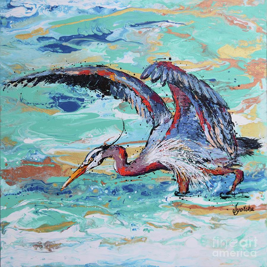Blue Heron Hunting by Jyotika Shroff