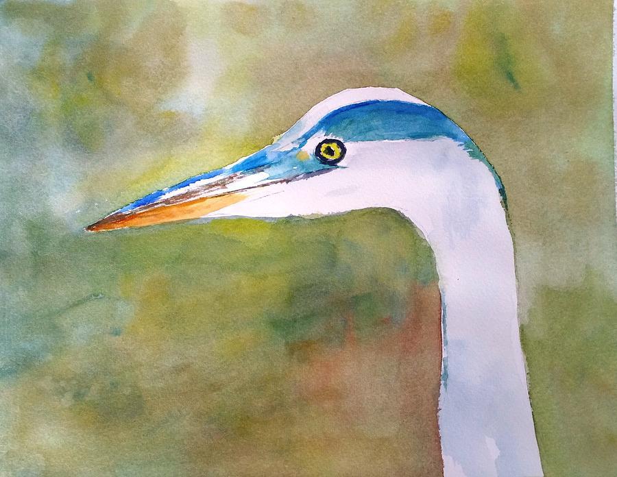 Blue Heron by Larry Hamilton