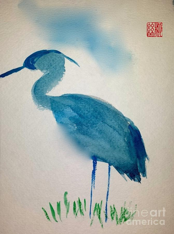 Blue Heron by Margaret Welsh Willowsilk