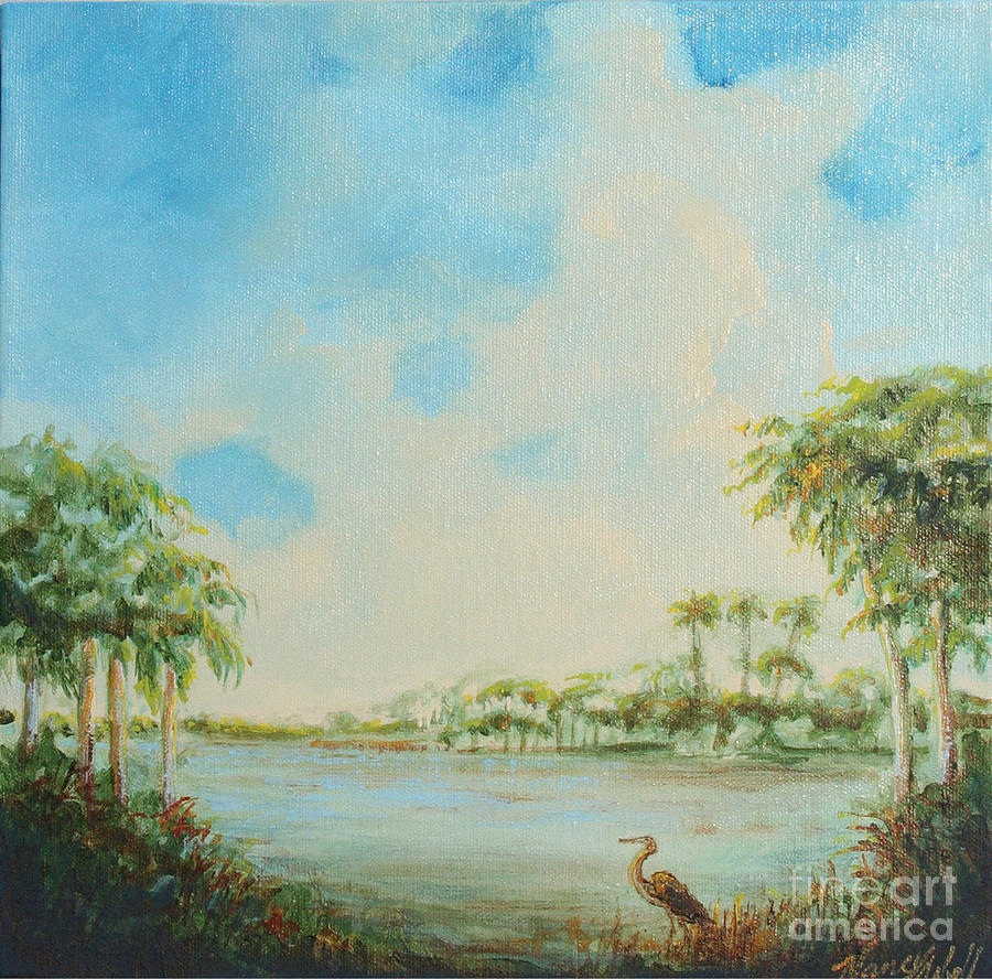 Landscape Painting - Blue Heron Pointe by Michele Hollister - for Nancy Asbell