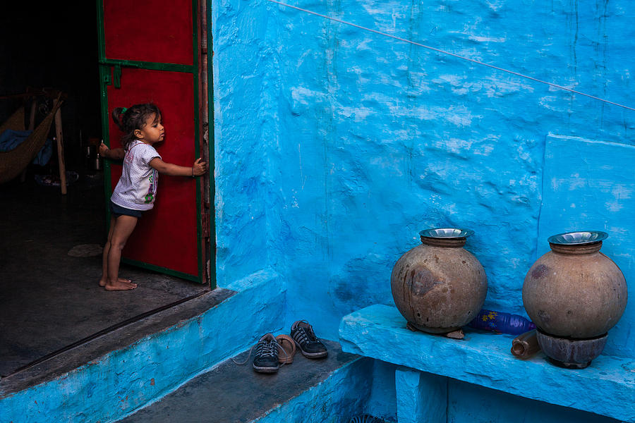 India Photograph - Blue Home by Marji Lang