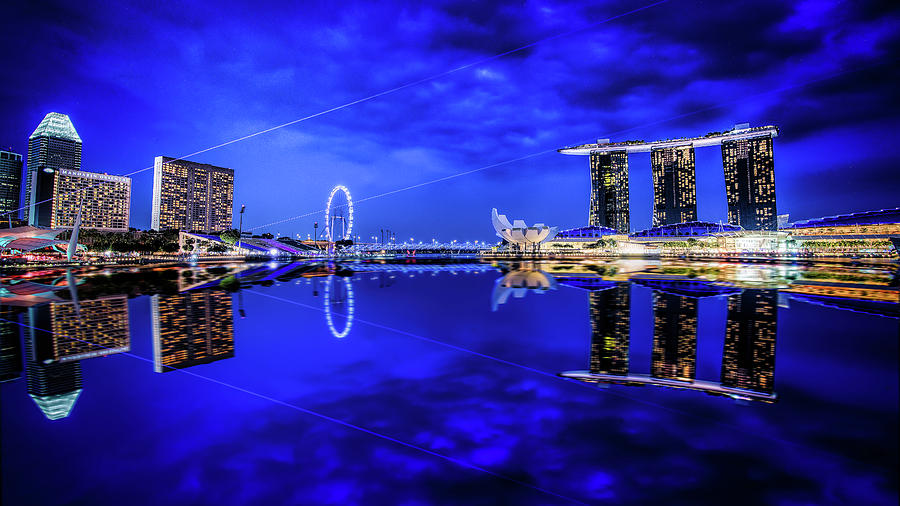 Blue Hour at Marina Bay by Kevin McClish