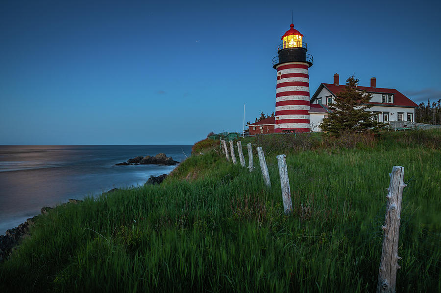 Blue hour at West Quoddy Head Light by Colin Chase