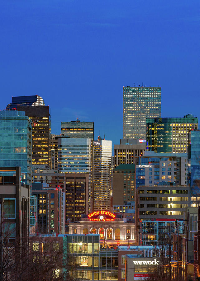 Blue Hour - Denver, Colorado Photograph