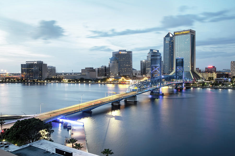 Jacksonville Photograph - Blue Hour In Jacksonville by Kay Brewer