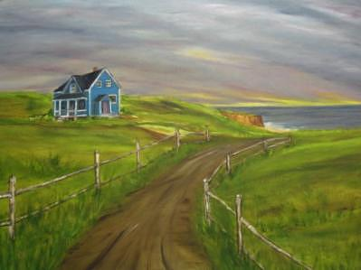 Blue House Painting - Blue House by Clara  Bierman