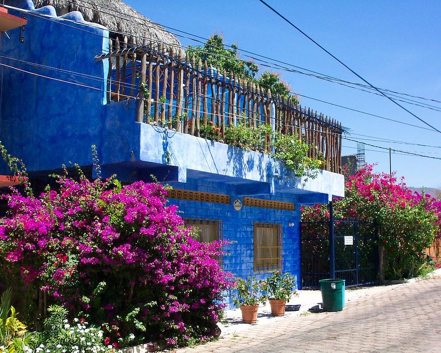 Casa Photograph - Blue House by James Johnstone