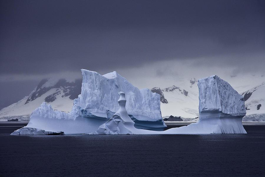 Antarctica Photograph - Blue Ice Antarctica by Ralph Fahringer