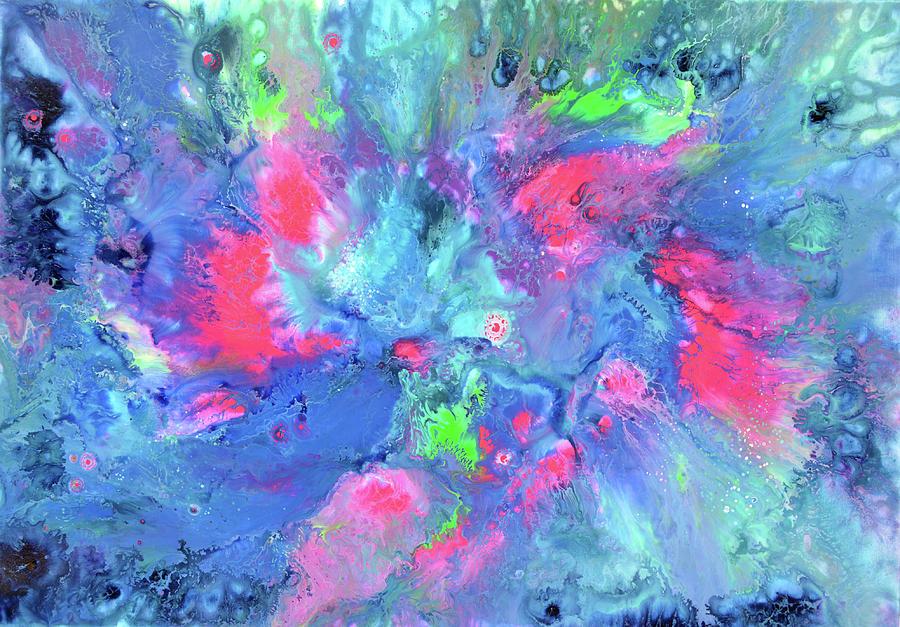 Blue Illumination Painting