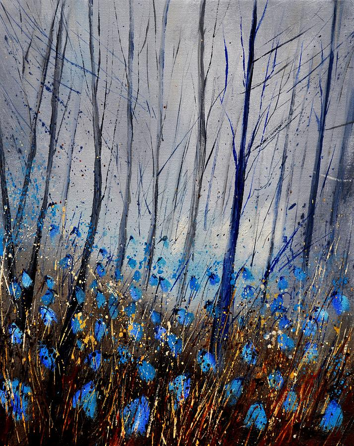 Flowers Painting - Blue In The Wood by Pol Ledent