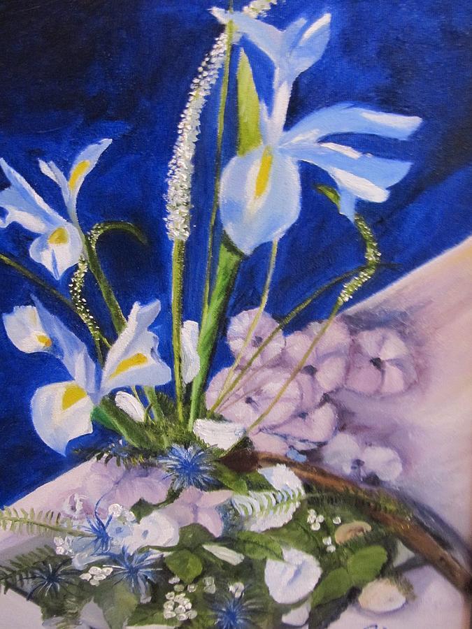 Iris Painting - Blue Iris by Gloria Condon