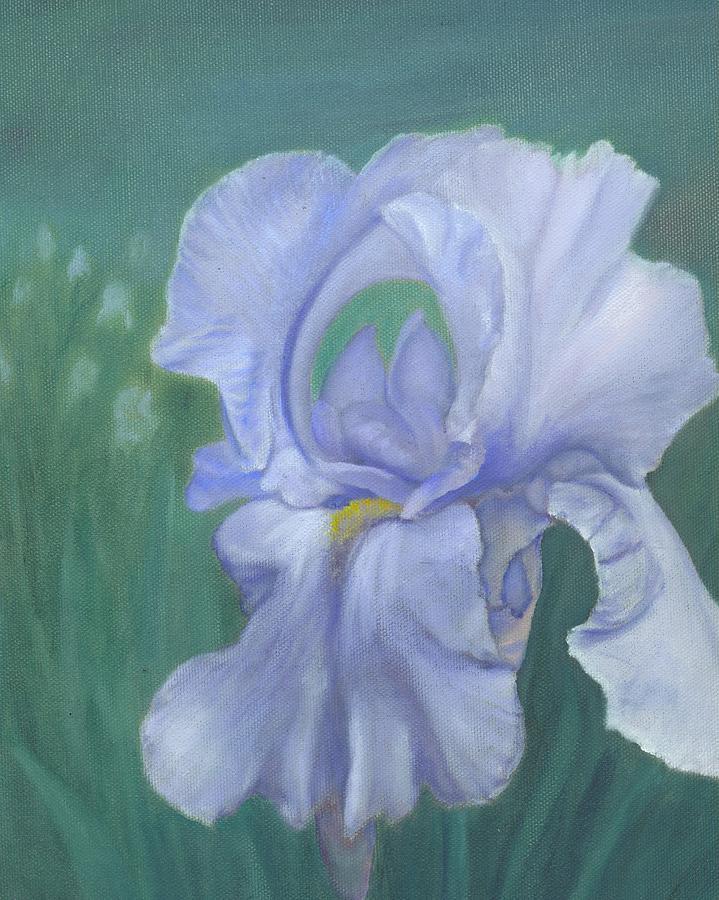 Flowers Painting - Blue Iris by Laurel Ellis
