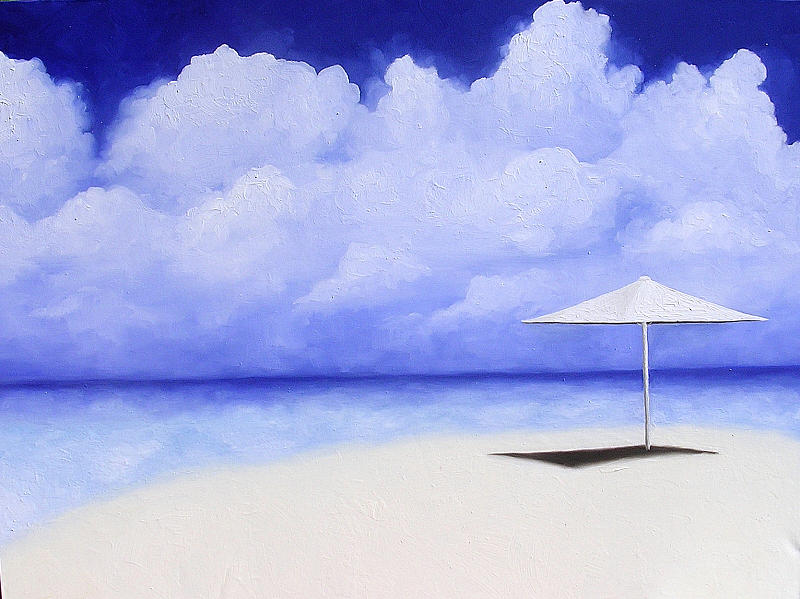 Seascape Painting - Blue Isolation by Trisha Lambi