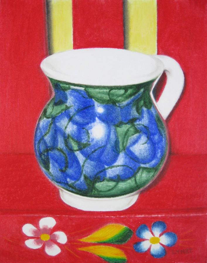 Mug Painting - Blue Jarrito by Lynet McDonald