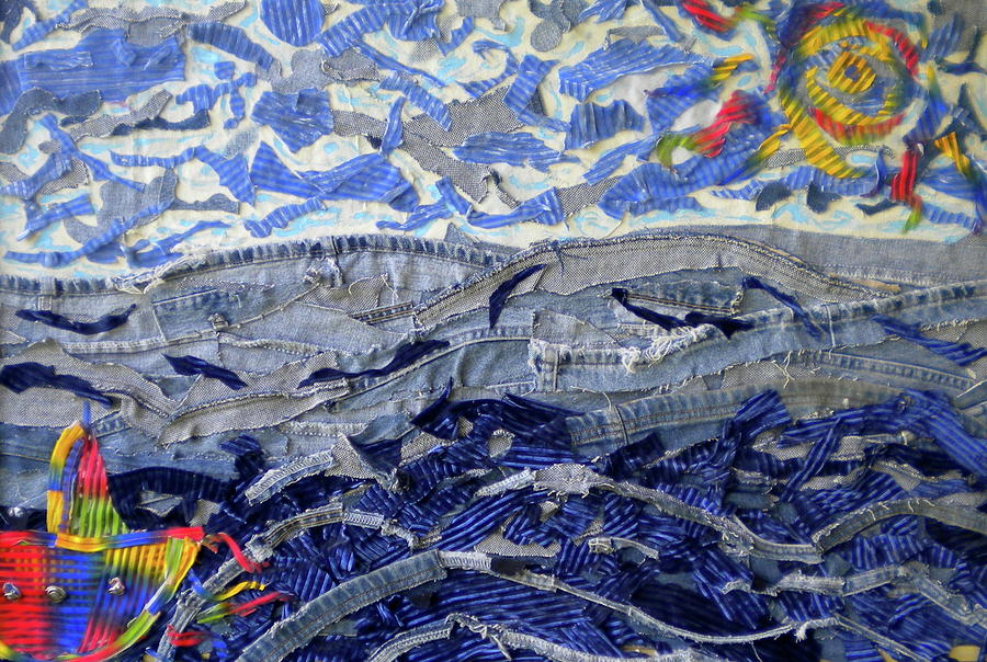 Blue Jeans Mixed Media - Blue Jean Beach by Dylan Chambers