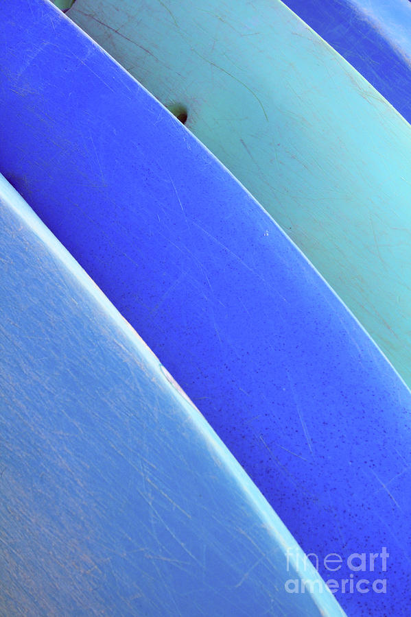 Afternoon Photograph - Blue Kayaks by Brandon Tabiolo - Printscapes