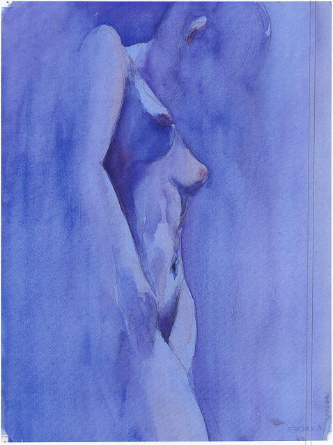 Blue Painting by Ken Daugherty