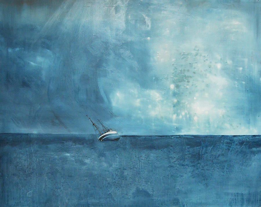 Seascape Painting - Blue by Krista Bros