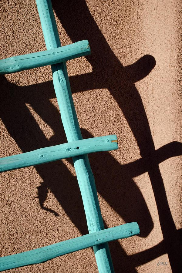 Blue Photograph - Blue Ladder And Shadow by David Gordon