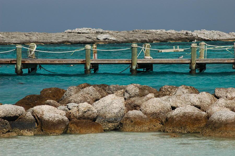 Beach Photograph - Blue Lagoon by Lori Mellen-Pagliaro