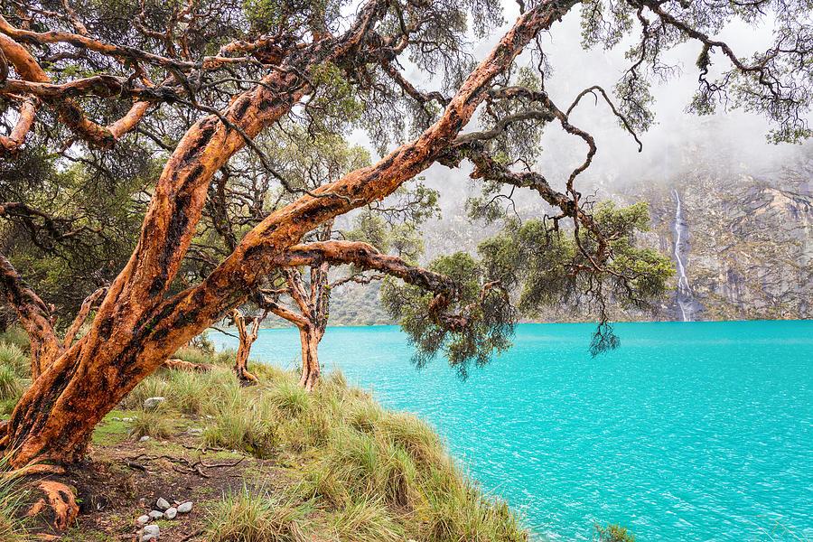 Peru Photograph - Blue Lake in the Cordillera Blanca by Jess Kraft