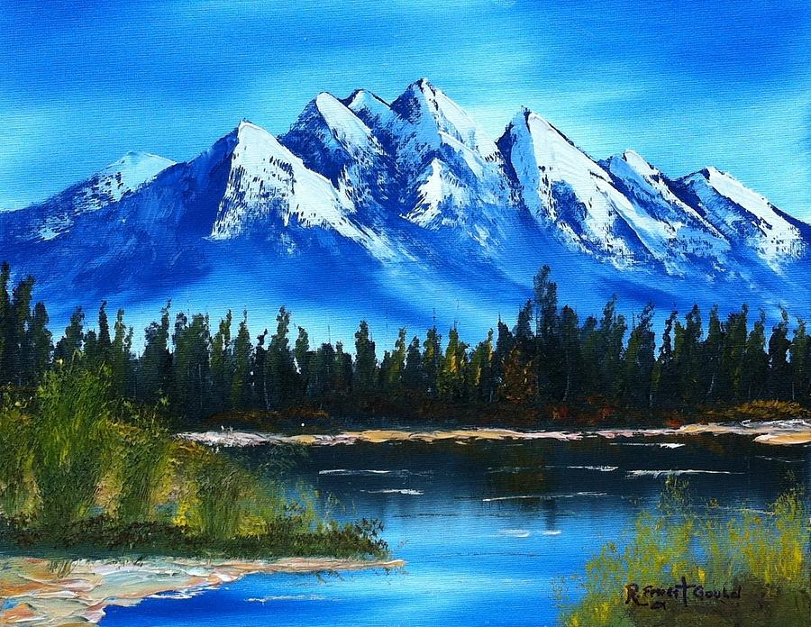 Landscape Painting - Blue Lake by Roy Gould