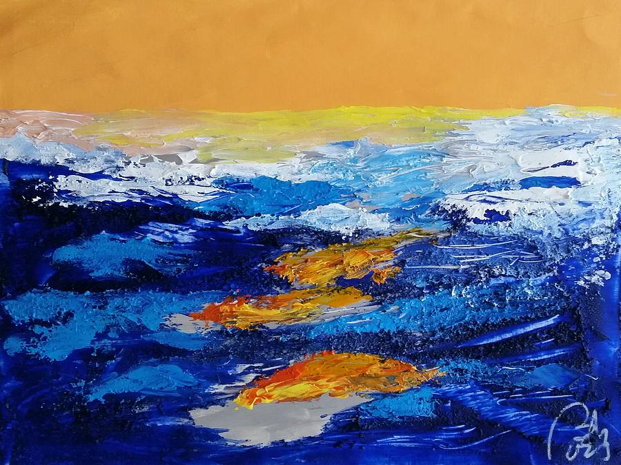 Process Painting - Blue landscape IV by Bachmors Artist