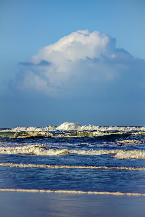 Blue Layers Of Waves Photograph
