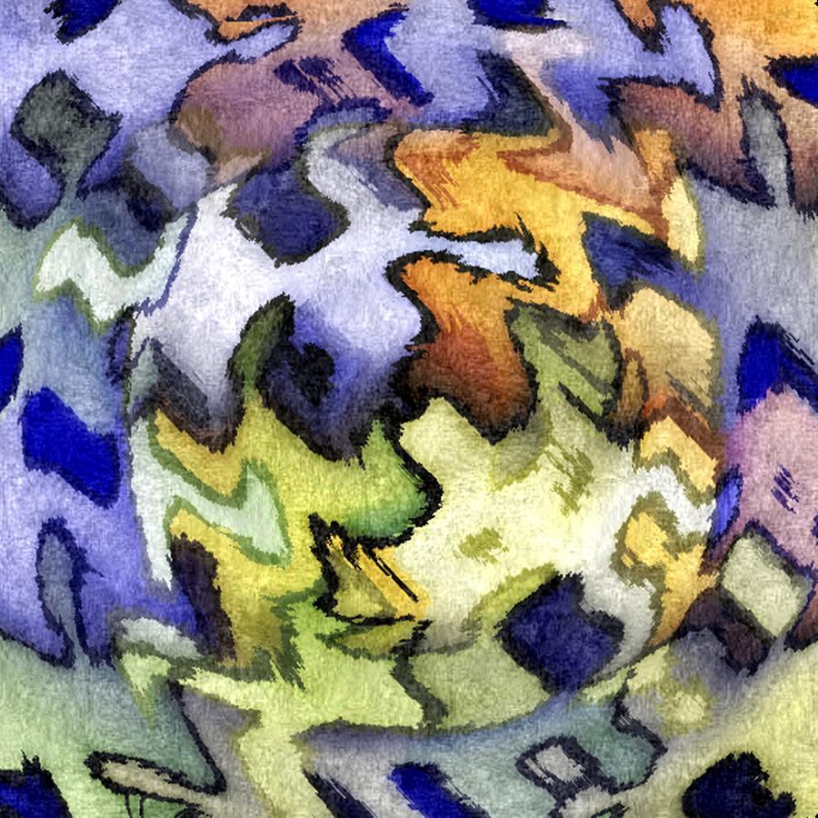 Blue Digital Art - Blue Leopard Skin by Terry Mulligan