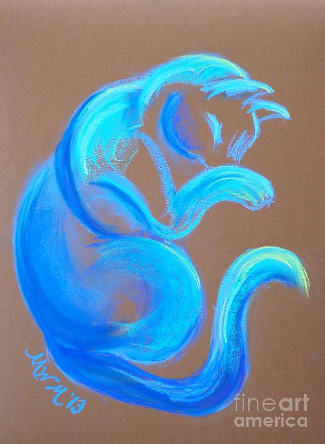 Cat Pastel - Blue Like Cats by Michelle Wolff