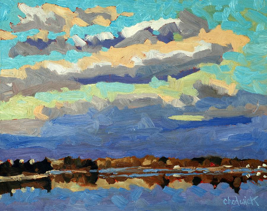 Cloud Painting - Blue Line by Phil Chadwick