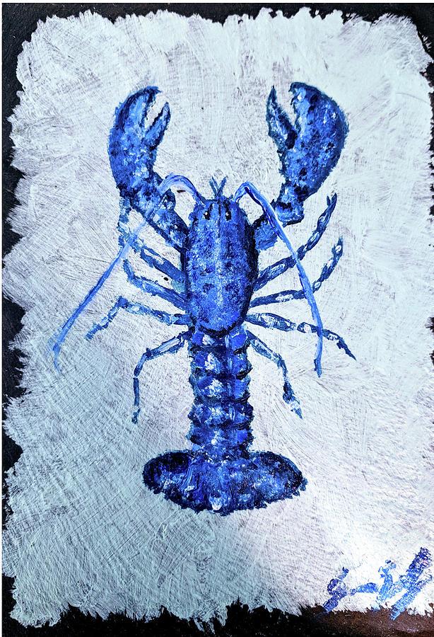 Blue Lobster 1 by Jeannine Selig
