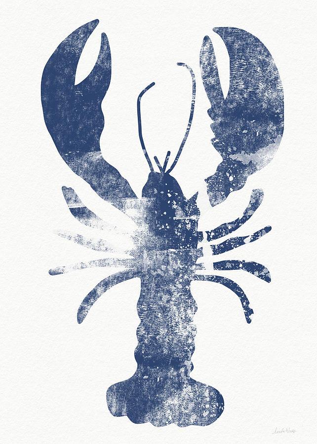 Blue Lobster Art By Linda Woods Painting By Linda Woods