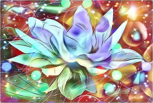 Blue Lotus  by Karen Buford