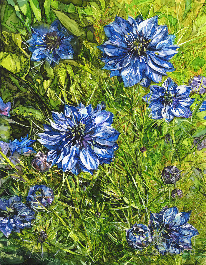 Blue Love in a Mist by Vicki Baun Barry
