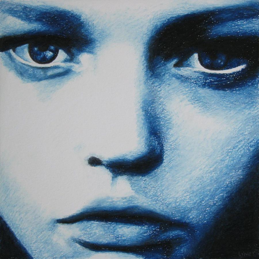 Girl Painting - Blue by Lynet McDonald