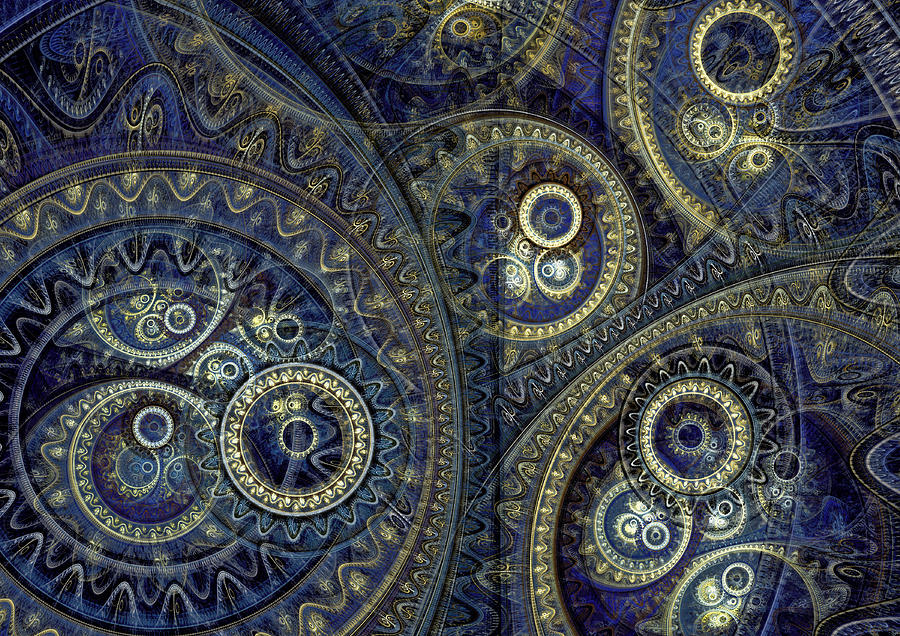 Blue Machine Digital Art