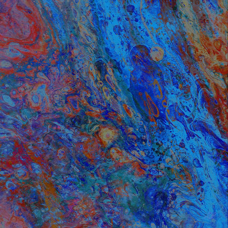 Blue Madonna by Stephanie Grant