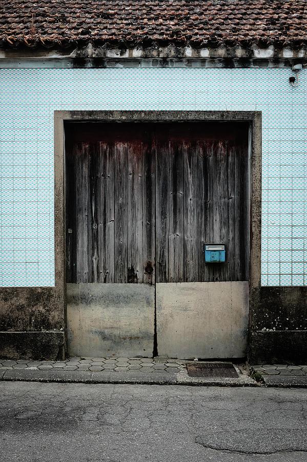 Blue Mailbox Photograph