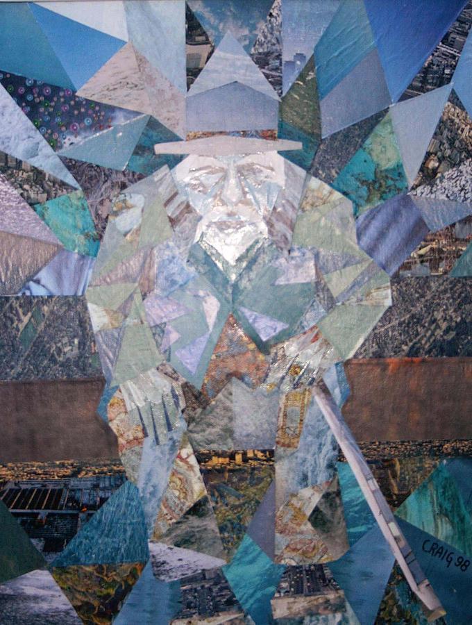 Blue Man Mixed Media by Bob Craig