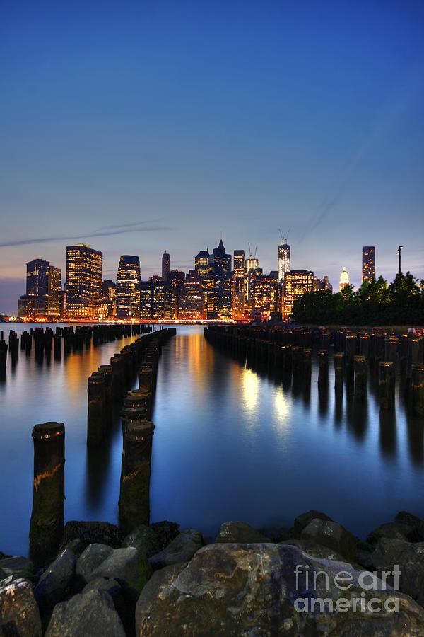 Manhattan Photograph - Blue Manhattan by Andrew Paranavitana