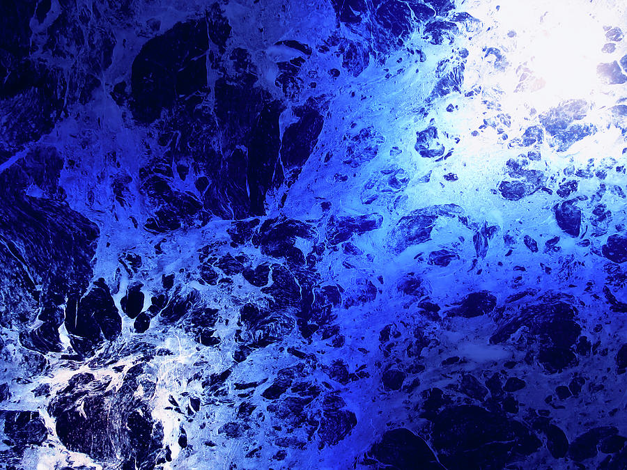 Blue Marble Dream Abstract by John Williams