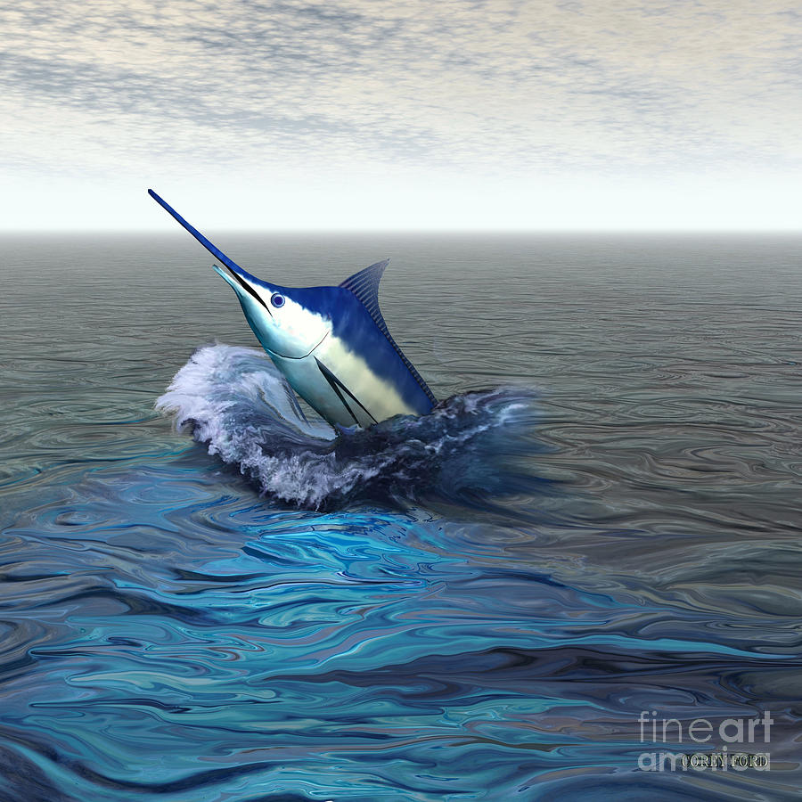 Blue Marlin Painting - Blue Marlin by Corey Ford