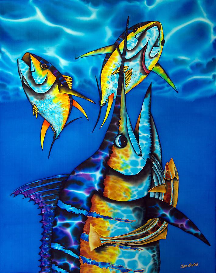 Blue Marlin Painting - Blue Marlin by Daniel Jean-Baptiste