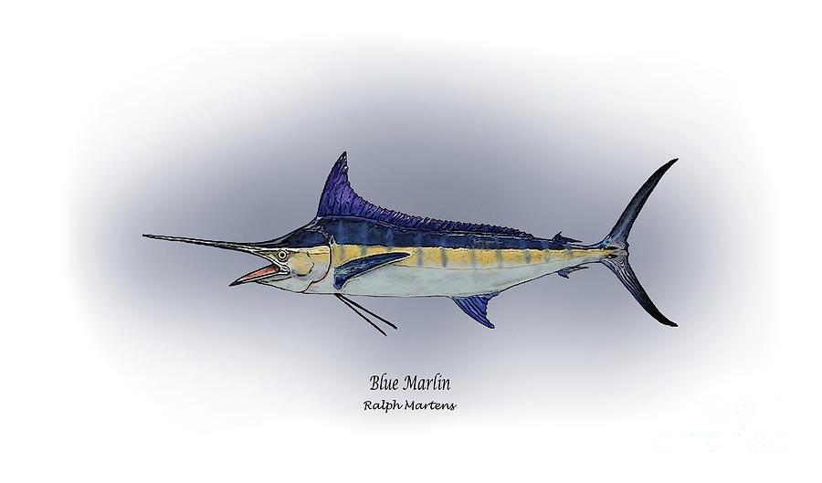 Blue Marlin Painting - Blue Marlin by Ralph Martens