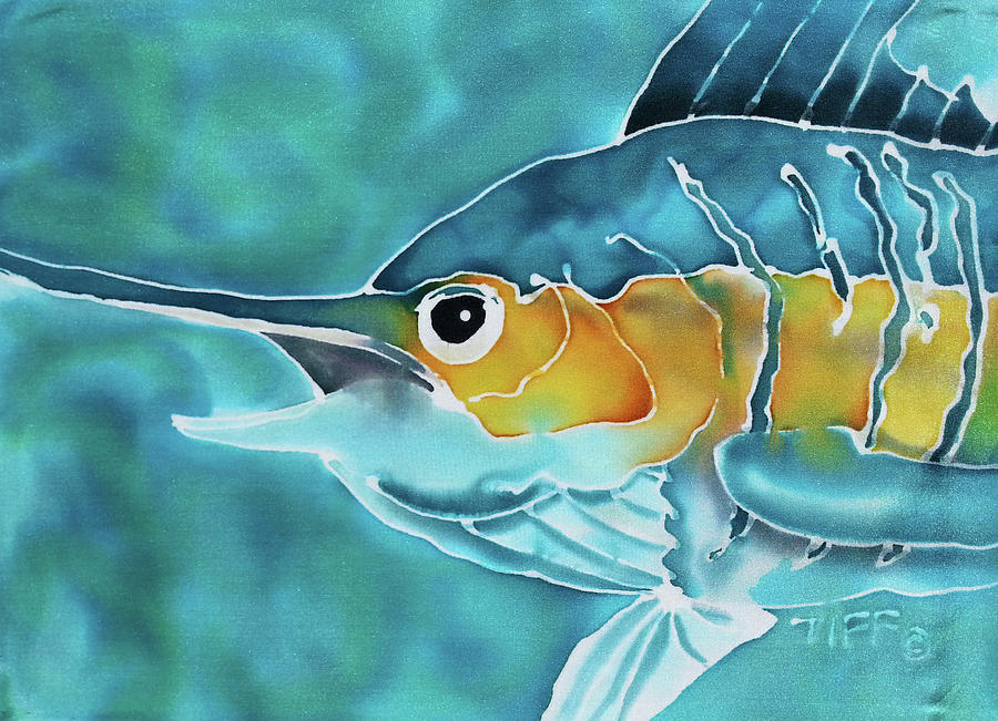 Blue Marlin Painting - Blue Marlin by Tiff