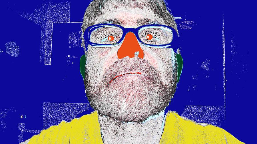 Self Portrait Digital Art - Blue Me by Charlie Spear