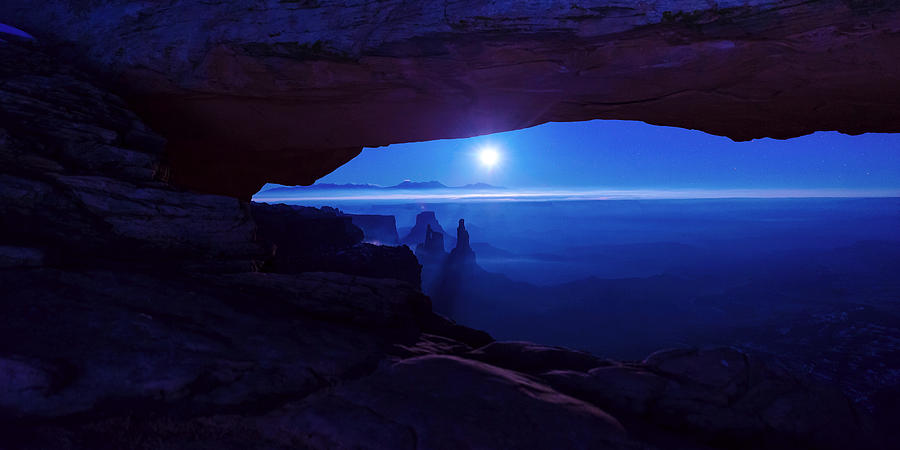 Mesa Arch Photograph - Blue Mesa Arch by Chad Dutson